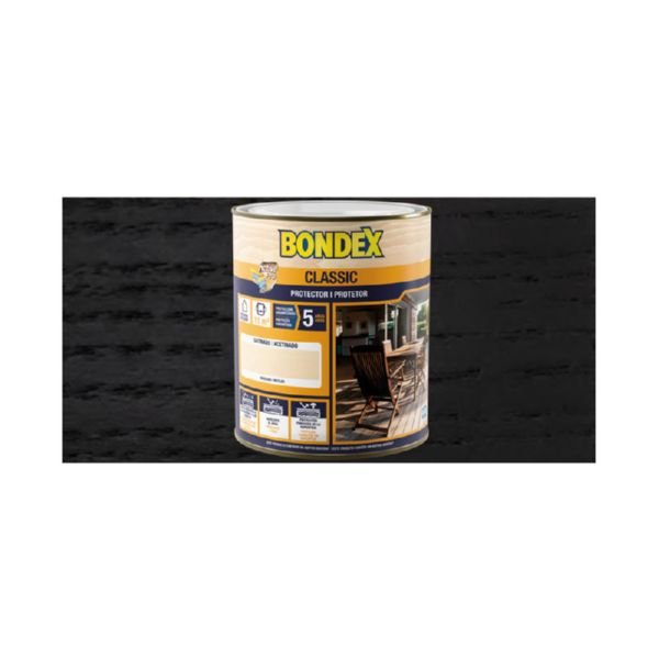 BONDEX SATINADO NEGRO 906 0,75L