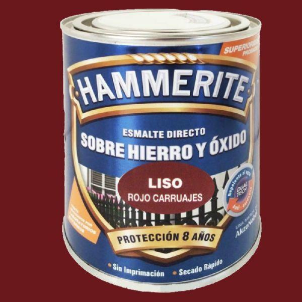 HAMMERITE LISO ROJO CARRUAJE 0.750ML
